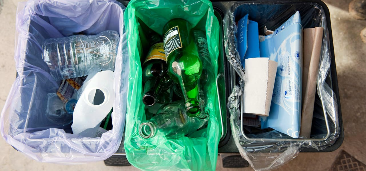 Estación de reciclaje casera